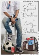 Special Brother Football Birthday Card